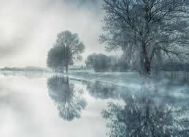 冬日雪景唯美高清桌面壁紙