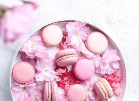 法式甜點繽紛馬卡龍圖片