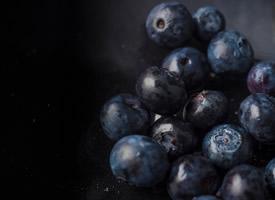 藍的發紫野生藍莓圖片欣賞