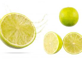 水分很足的柠檬切开图片欣赏