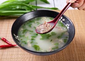 滋补营养的羊肉汤图片
