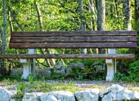 高清公園長椅圖片