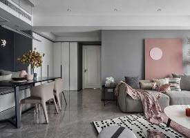 高級灰+煙粉,撩人輕熟風家居設計