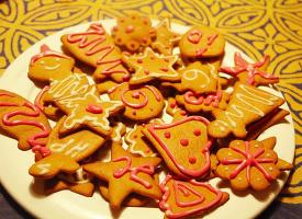 圣诞节各种糖霜饼干图片