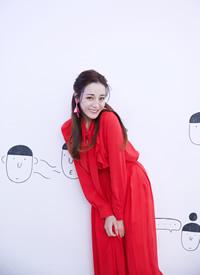 迪丽热巴红裙性感写真图片欣赏