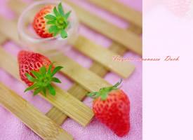 粉嫩清新草莓藝術圖片欣賞
