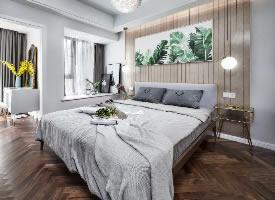 60平北欧温馨二居室,浅灰系暖调公寓