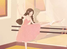 卡通少女插畫桌面壁紙圖片