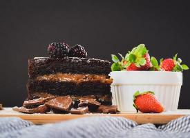 香濃的巧克力蛋糕圖片