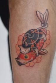 日式貓刺青 有趣的日式9款刺青大貓紋身圖片