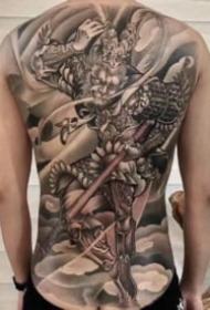 孙悟空纹身 9款大满背的齐天大圣纹身图案