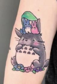 龍貓紋身 9款宮崎駿動漫龍貓的刺青圖片