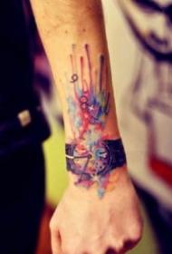 手腕上的9款好看的紋身作品圖片