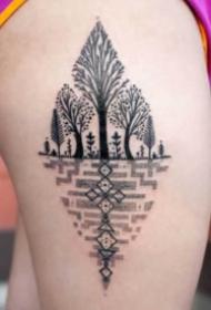 樹紋身 黑色的9款好看的樹紋身圖案作品