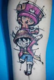 海賊王紋身-15款路飛索隆艾斯喬巴等動漫角色紋身圖案