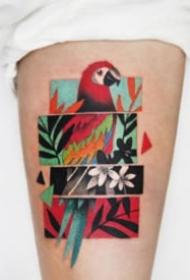 波普艺术和故障艺术结合的纹身典范-韩国纹身艺术家Polyc作品