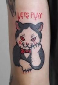 吸貓人士的最愛的一組小貓咪紋身圖片