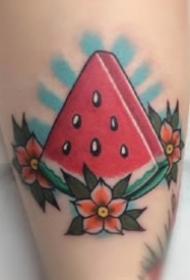 水果主題的9款西瓜桃子等紋身圖片