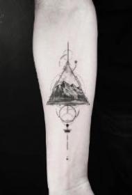 几何主题的一组创意纹身刺青图片