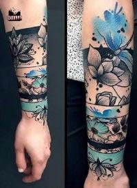 15款环绕手腕手臂的手环臂环纹身作品