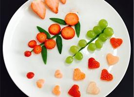 有創意的幼兒水果拼盤圖片