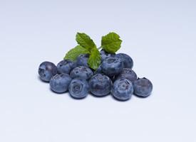 一组新鲜美味的蓝莓图片欣赏