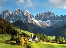 意大利白云石山风光图片