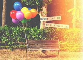 一组气球唯美图片