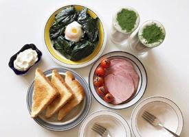 营养丰富的早餐唯美图片