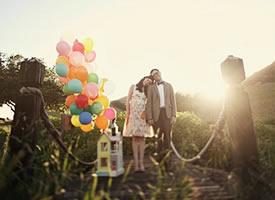 幸福的气球图片