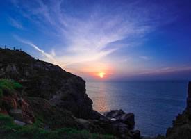 唯美海边日出摄影风景图片