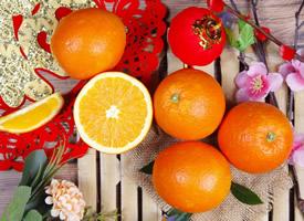 切开的橙子高清真实图片