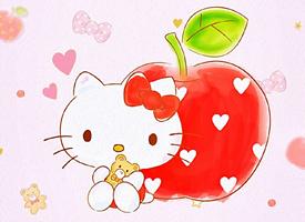 粉嫩少女心凯蒂猫卡通图片手机壁纸