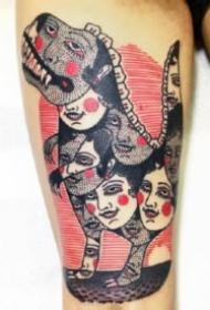 復古怪誕的一組國外紋身設計圖案作品