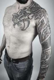 維京人圖騰的18款紋身作品圖案