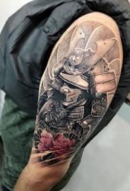 鬼武士纹身 包臂包腿的一组创意武士纹身图案