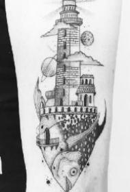 黑灰点刺风格的9款精品小图纹身作品