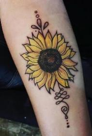 向阳花纹身 一组向日葵主题的花朵纹身图片