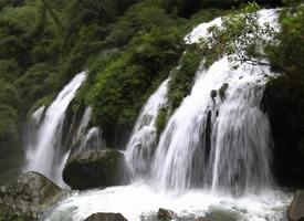 黄龙飞瀑瀑布图片