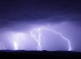 自然天空闪电图片