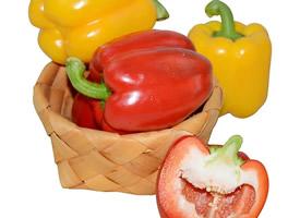一组各式的彩色辣椒图片
