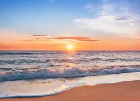 唯美海边日出风景壁纸