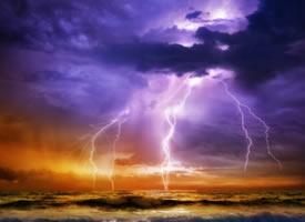 自然景观闪电图片