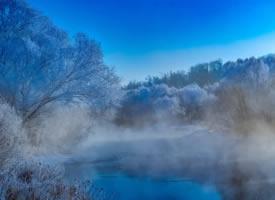 黑龙江库尔滨河冬季风景壁纸