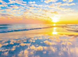 大海夕阳日落风景图片