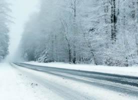 冬季雪天道路风景壁纸图片
