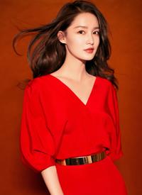 李沁红衣妩媚性感高清手机壁纸