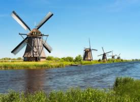 荷兰风车风景壁纸图片