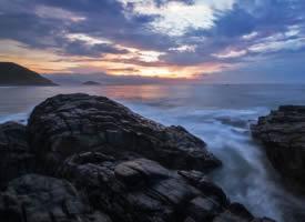 一组大海边日出图片