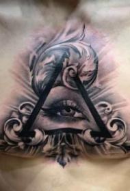 男士花胸纹身 28款男性胸前霸气的大花胸纹身团作品